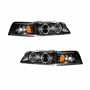 Ford Mustang 99-04 Projector Head Light G2 Smoke Amber (Dual Projector) - Click to enlarge