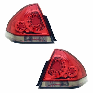 Chevy Impala 06-08 L.E.D Tail Light Red / Clear - Click to enlarge