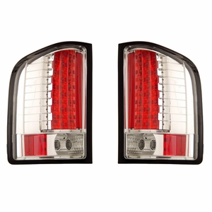 Chevy Silverado 07 Half-Up L.E.D Tail Light All Chrome - Click to enlarge