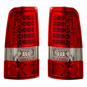 Chevy Silverado 03-06 L.E.D Tail Light Red / Clear - Click to enlarge
