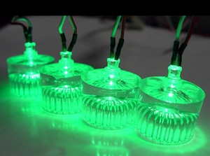 Green LED Acrylic Case Feet - Click to enlarge