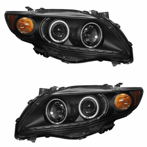Toyota Corolla 09 Up Projector Halo Head Light Black Clear Amber(CCFL) - Click to enlarge