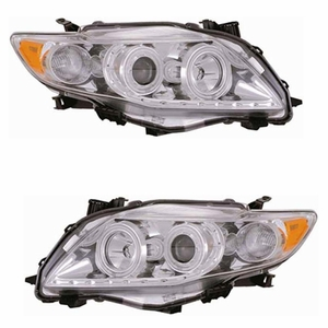 Toyota Corolla 09 Up Projector Halo Head Light Chrome Clear Amber(CCFL) - Click to enlarge