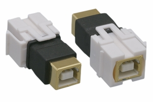 USB 2.0 B Female to B Female Keystone Insert Flush - Click to enlarge