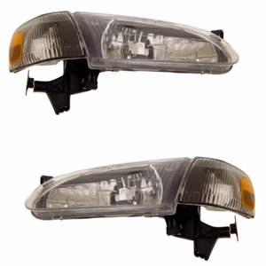 Toyota Corolla 98-00 Crystal Head Light Black Amber with Corner Light - Click to enlarge