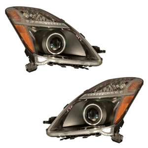 Toyota Prius 04-09 Head Light Halo Black Clear Amber (CCFL) - Click to enlarge