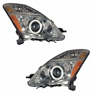 Toyota Prius 04-09 Head Light Halo Chrome Clear Amber (CCFL) - Click to enlarge