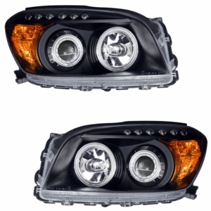 Toyota Rav-4 06-08 Projector Head Light Black Clear Amber(CCFL) - Click to enlarge