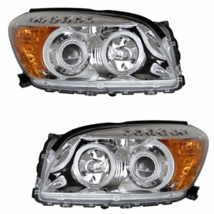 Toyota Rav-4 06-08 Projector Head Light Chrome Clear Amber(CCFL) - Click to enlarge