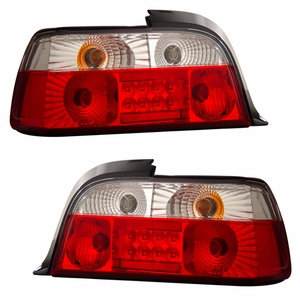 BMW 3 Series E36 92-98 2 DR L.E.D Tail Light Red / Clear - Click to enlarge