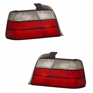 BMW 3 Series E36 92-98 4 DR Tail Light Red / Clear - Click to enlarge