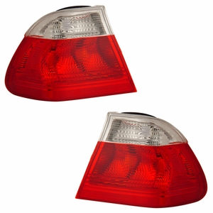 BMW 3 Series E46 99-01 4 DR Tail Light Red / Clear - Click to enlarge