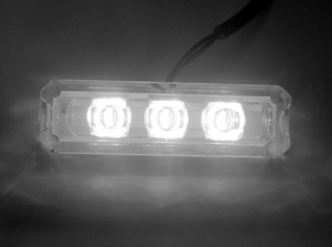 White Clear Water Resistant 3 LED Step Light - Click to enlarge