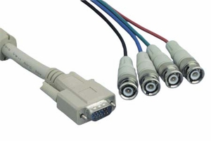 6 Feet Beige 4 Mini Coaxial VGA Monitor Cable - Click to enlarge