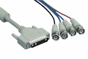 6 Feet Beige UL2919 with 4 Mini Coaxial Cable - Click to enlarge