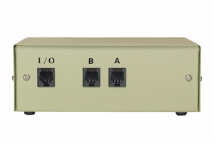 2 Ports RJ-12 6P/6C Data Transfer Switch - Click to enlarge
