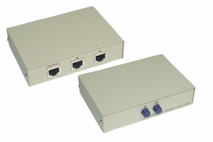 2 Ports RJ-45 Manual Switch - Click to enlarge