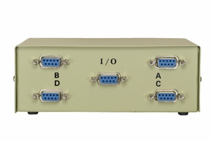 4 Ports DB9 Female Data Transfer Switch - Click to enlarge