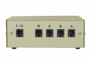 4 Ports RJ-12 6P/6C Data Transfer Switch - Click to enlarge