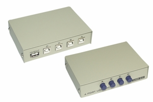 4 Ports USB 1A and 4B Manual Switch - Click to enlarge