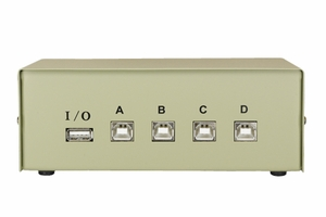4 Ports USB Data Transfer Switch - Click to enlarge