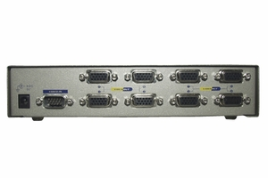 1 PC to 8 VGA Monitor 250MHz Video Splitters - Click to enlarge