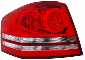 Dodge Avenger 08-10 L.E.D Tail Light Red / Clear - Click to enlarge