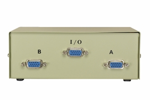 2 Ports HD15 Female VGA Data Transfer Switch - Click to enlarge