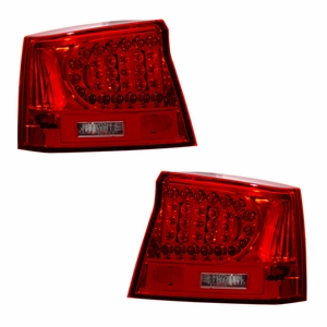 Dodge Charger 06-08 L.E.D Tail Light Red / Clear - Click to enlarge