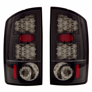 Dodge Ram 02-05 L.E.D Tail Light Black - Click to enlarge