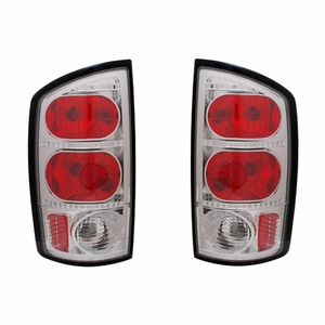 Dodge Ram 02-05 Tail Light Red / Chrome - Click to enlarge