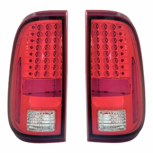 Ford F-250 / Super Duty 08-Up L.E.D Tail Light Red / Clear - Click to enlarge