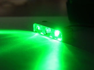 Green 3 LED Spotty Light w/ Black Case - Click to enlarge
