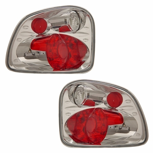 Ford F-Series Flare Side 01-03 Tail Light Version 2 Chrome - Click to enlarge