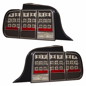 Ford Mustang 05-09 L.E.D Tail Light Black - Click to enlarge