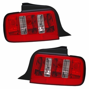 Ford Mustang 05-09 Tail Light Red / Clear 2010 Style - Click to enlarge