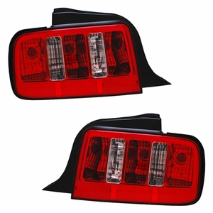 Ford Mustang 05-09 Tail Light Red / Clear w/ Sequential Signal 2010 Style - Click to enlarge