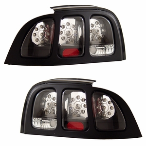 Ford Mustang 94-98 L.E.D Tail Light Black - Click to enlarge