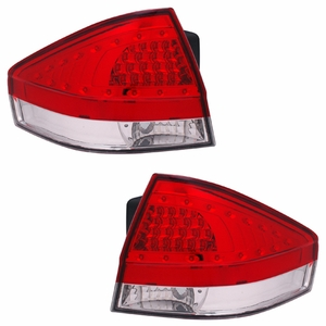 Ford Focus 08 Up 4DR / 2DR L.E.DTail Light Red / Clear - Click to enlarge