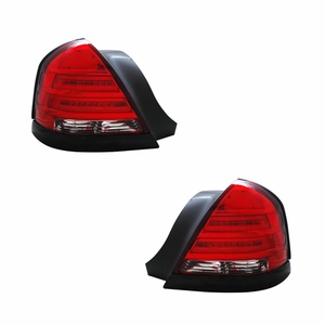 Ford Crown Victoria 98-03 L.E.D Tail Light Red / Clear Black Strip - Click to enlarge