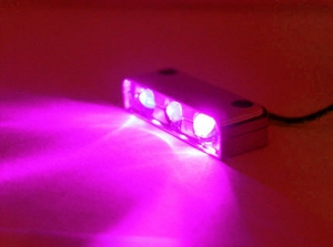 Magenta 3 LED Spotty Light / Chrome Case - Click to enlarge