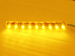 9 LED Flexible Water-Proof Amber - Click to enlarge