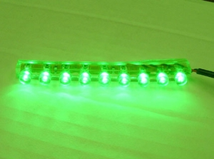 9 LED Flexible Water-Proof Green - Click to enlarge