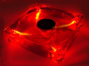 Red 4 LED 120mm Case Fan - Click to enlarge