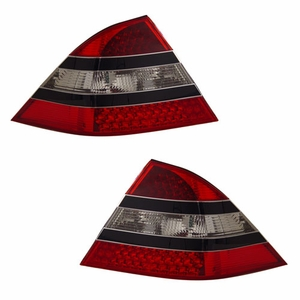 MBZ S Class W220 S320 S350 00-05 L.E.D Tail Light Red / Clear(Mid-Black) - Click to enlarge