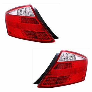 Honda Accord 08 Up 2DR L.E.D Tail Light Red / Clear (with removable gray strip) - Click to enlarge