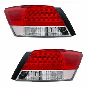 Honda Accord 08 Up 4DR L.E.D Tail Light Red / Clear - Click to enlarge