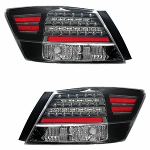 Honda Accord 08 Up 4DR L.E.D Tail Light Black - Click to enlarge