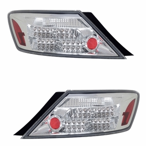 Honda Civic 06 Up 2DR L.E.D Tail Light All Chrome - Click to enlarge