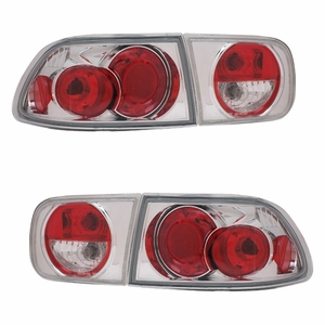 Honda Civic 92-95 2/4DR Tail Light Chrome - Click to enlarge